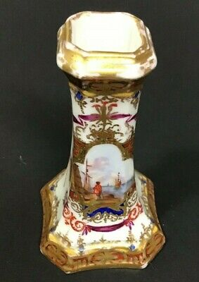 18th Century KPM Hand Painted Candlestick