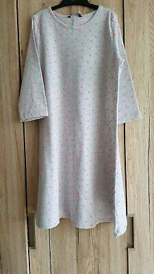 George Girls Grey tshirt jersey Dress Age 10-11yrs pink neon print 3-4 sleeves