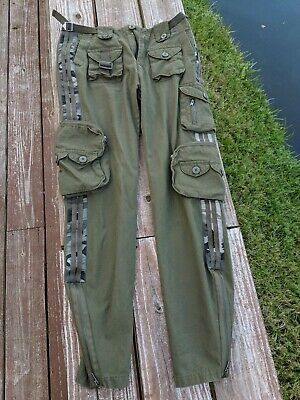 Womens Ladies Camo Plain Army Cargo Combat Casual Trousers / Pants FreeKnight 28