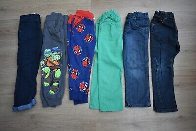 Boys Age 3-4 Years Jeans & Trousers Bundle + Next H&M  Spiderman Tmnt X6 Pairs