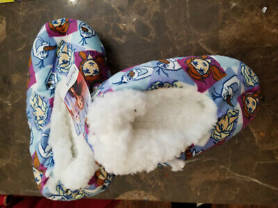 Girls Frozen II Sisters Elsa Olaf Anna Believe in The Journey Fuzzy Slipper sock
