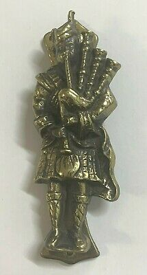 Scottish Piper Bagpipe Player Brass Door Knocker