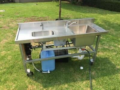Double sink for mobile food business