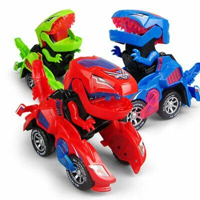 Puzzle Electric Deformation Dinosaur Chariot With Light Voice Racing @~