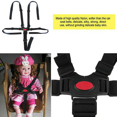 Baby Safety Harness Stroller 5 Point  Baby High Chair Pram Buggy Car Belt Strap~