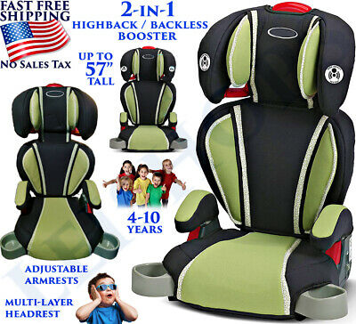 Car Seat 2 In 1 High Back Kids Toddler Safety Highback Booster 5-Point Harness