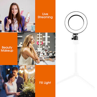 LED Ring Light Studio Photo Video Dimmable Tripod Stand Selfie Camera Phone Lamp