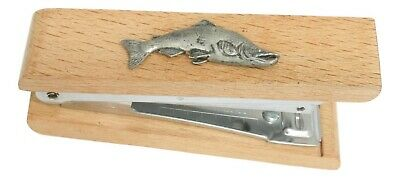 Salmon Wooden Stapler Office Stationary Fishing Gift 310