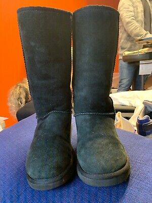 Ugg Australia Classic Black Suede Knee High boots size UK 4.5 Hardly Worn