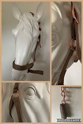 COB Headcollar and Lead Rope Set FREE UK Postage Rose Gold /& Burgundy