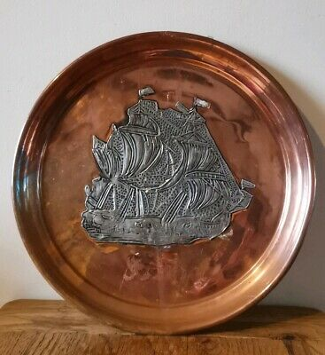 Antique Arts And Crafts Copper spit dish