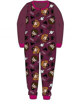 Harry Potter  All In One  Pyjamas Pjs Hogwarts Girls Boys Age 3 to 10 years