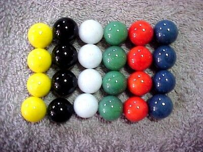 """Set Of 24 """"Marble King""""  9/16"""" Game Replacement Marbles Nm-M $6.99 Ppd!!"""