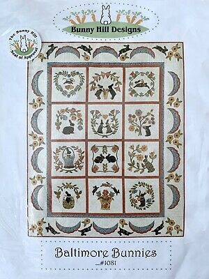 NEW BALTIMORE BUNNIES Appliqué Quilt Kit By Bunny Hill Designs #1081