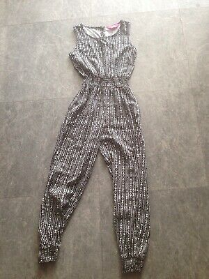 Girls Black & White Jumpsuit All In One Primark YD Age 7-8 Years
