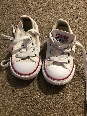 classic Low Top converse all star white trainers size infant 5