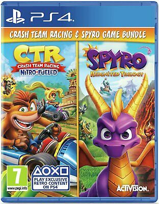 Crash Team Racing & Spyro Reignited Trilogy Sony Playstation PS4 Double Pack
