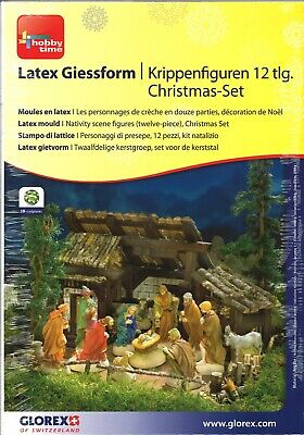 Latex Giessform Krippenfiguren 12-teilig Christmas-Set