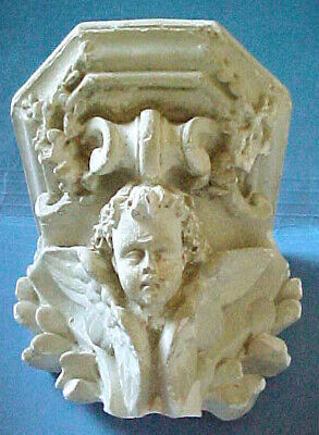 ~ Small Architectural Salvage Victorian Detailed Cherub Shelf Wall Hanging ~