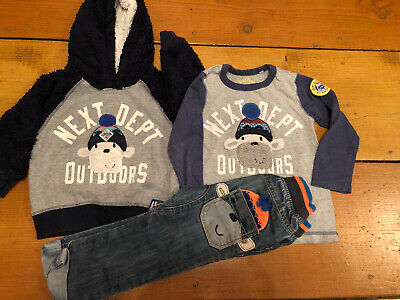 Boy Next Christmas Monkey Range 2-3 Years Jeans Jumper Top Bundle Outfit