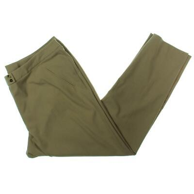 Tahari ASL Womens Beige Office Wear Khaki Pants Trousers Plus 18W BHFO 1643