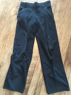 Girls Boys Unisex M&S Marks & Spencer Navy Blue Jogging PE Bottoms Trousers 8-9