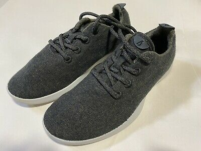 Allbirds Men's Size 9 Charcoal green / black gray soles Wool Runners Shoes New