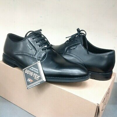 Clarks GORE-TEX Craftmaster Ronnie Walk Black Leather Exclusive GTX Shoes G Fit