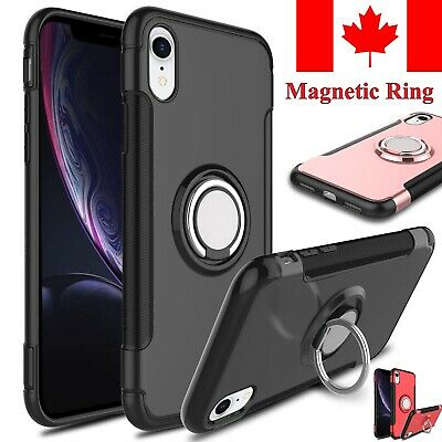For iPhone 11 Pro XR X XS Max 5S SE 8 Plus 7 6S 6 Case Stand Magnetic Ring Cover