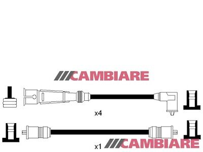 VW GOLF Mk1 GTI 1.6 HT Leads Ignition Cables Set 76 to 82 VOLKSWAGEN Cambiare