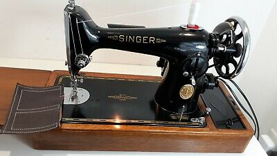 Semi-Industrial Singer 201K Elec Sewing Machine,SERVICED, PAT TEST, sews LEATHER