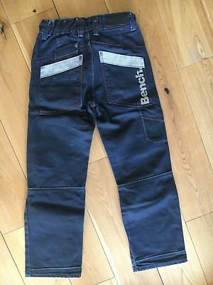 Genuine BENCH boys waxed denim jeans 9-10yrs : MINT CONDITION! RRP£60