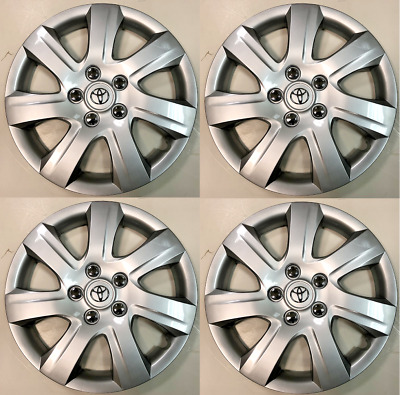 """4 x  Wheel Cover Hubcap Fits 2010-2011 Toyota Camry 16"""" Silver 7 Spoke"""