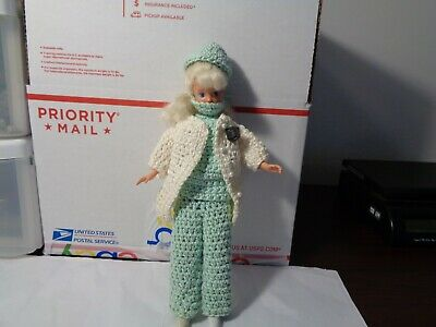 "VTG 1987  Skipper Mattel 10"" With Hand Crocheted DOCTOR outfit OOAK"