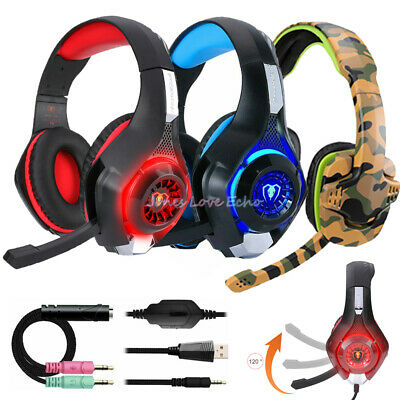 Pro Gaming Headset With Mic XBOX One PS4 Headphones Microphone Beat