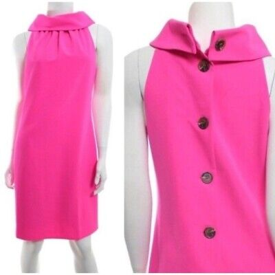 Sail to Sable HOT PINK Cowl Neck Dress Sleeveless Large New $228