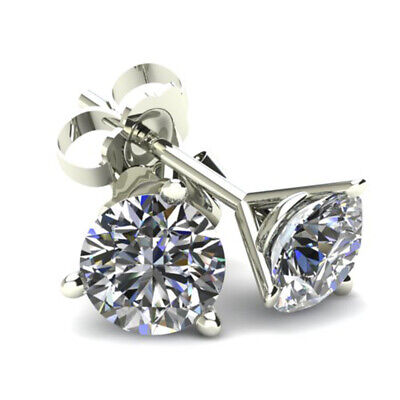 .40Ct Round Brilliant Cut Natural Diamond Stud Earrings In 14K Gold