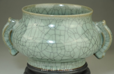 Collect china old Longquan porcelain natural cracked glaze incense burner /Db02J