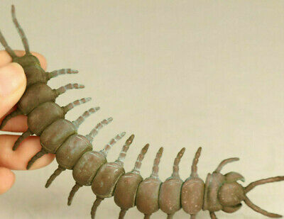 Chinese old bronze centipede Statue collectable decoration gift Tea pet decorati