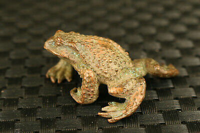 chinese RARE bronze hand casting frog statue decoration collectable Hand pieces