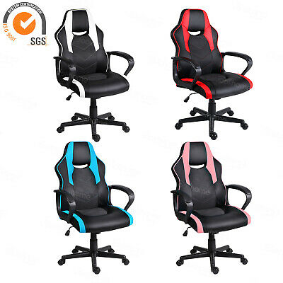 Executive Racing Gaming Chair Computer Office PU Swivel Rocker Adjustable New