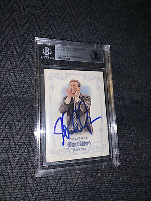 John Calipari Allen & Ginter #250 BAS Beckett Authenticated Card Signed