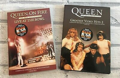Rare Queen Music DVD Bundle Concert Live at the Bowl & Greatest Video Hits 2