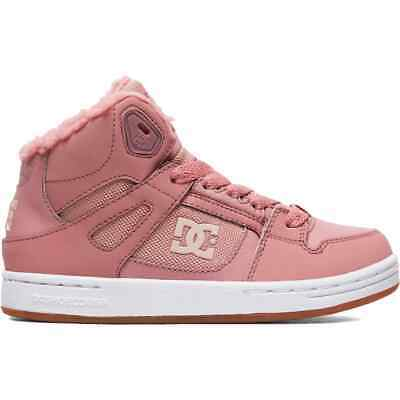 DC Pure Winter High-Top Girls Skate Shoes - Rose - Size - UK 5