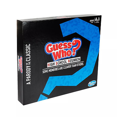 Brand New Hasbro Guess Who? High School Reunion Parody Edition Game