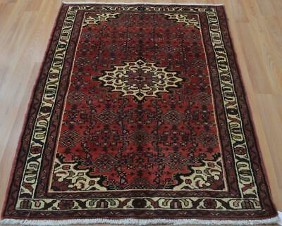 3'7 x 5 Vintage Hussainabad Hand Knotted Wool Area Rug 4 x 5 Oriental Carpet