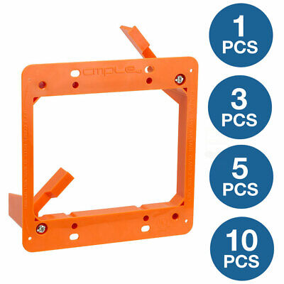 2 Gang Low Voltage Mounting Mount Bracket DryWall Wall Plate Network LV2 Lot