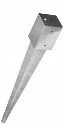 Heavy Duty Galvanised Fence Post Base easy to fix Drive Spike - Mount Bracket