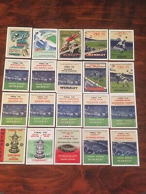 Sporting Profiles FA Cup Final's Programme Cover Cards 1946-1965 Collectable