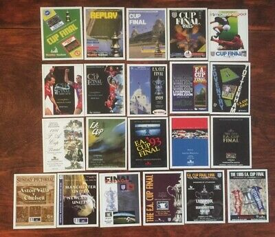 Sporting Profiles FA Cup Final's Programme Cover Cards 1983-2000